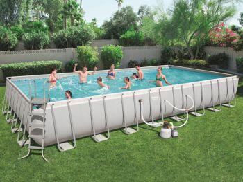 Bestway Power Steel zwembad 956 x 488 x 132 cm met zandfilterpomp