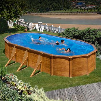 Houtdecor zwembad