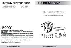 Gebruiksaanwijzing 12 volt luchtpomp